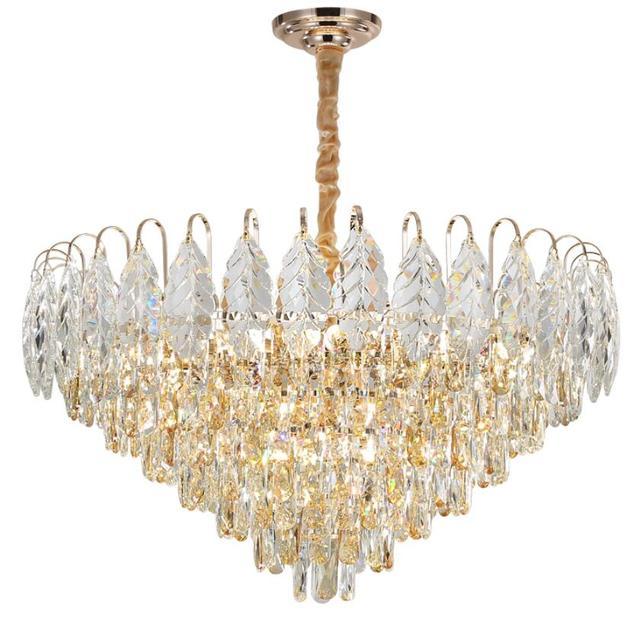 Купить роскошная светодиодная хрустальная люстра для гостиной домашний картинки цена