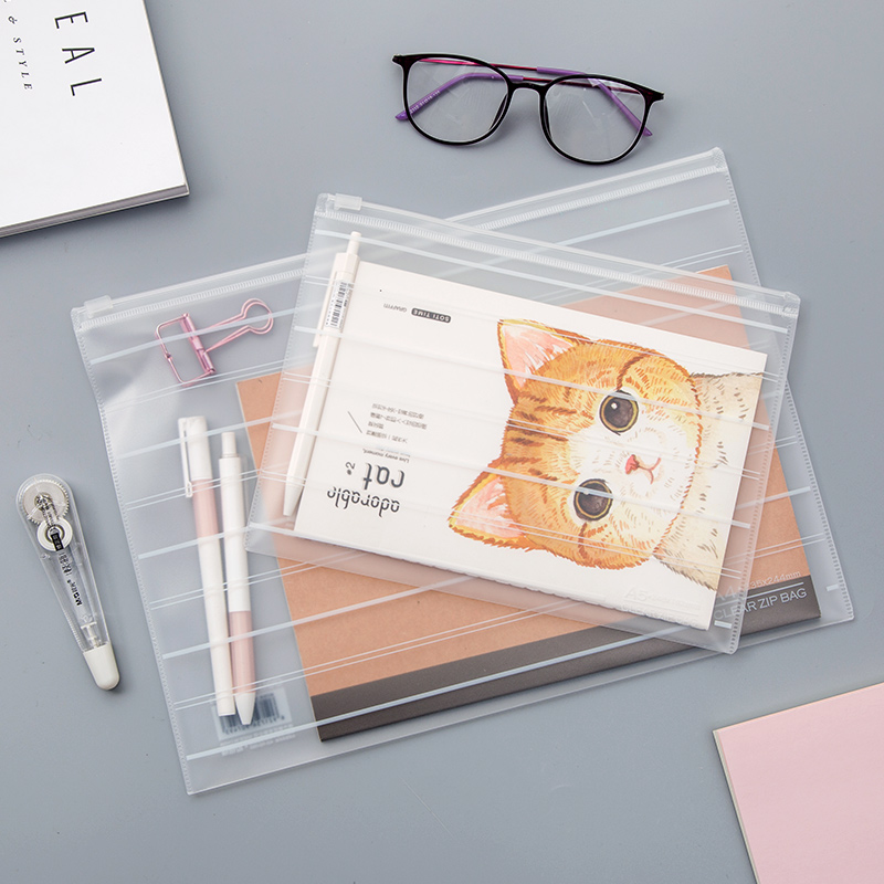 1 PC Frosted Transparent Document Bag Simple Document File Acceptance Bag Test Paper Bag Filing Products School Office Supply