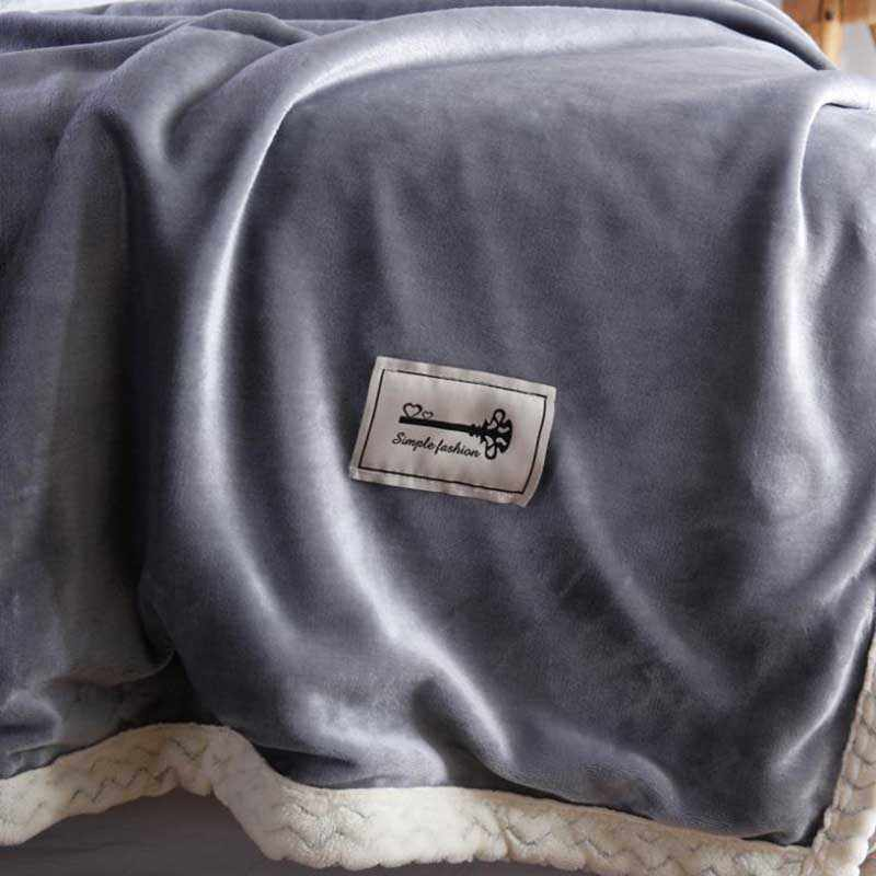 Plain Home Fleece Blanket Comforter Soft Bedspread Travel Comforter Baby Sleeping Cover Wraps