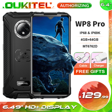 OUKITEL Wp8-Pro IP68 Waterproof 64GB 4gbb NFC Adaptive Fast Charge Fingerprint Recognition/face Recognition