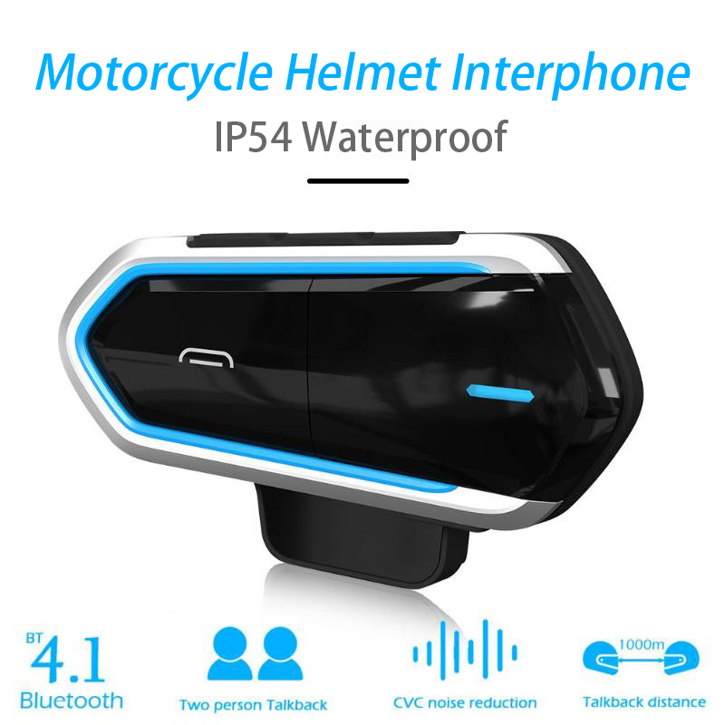 Motorcycle Intercom Helmet Bluetooth Headset BT Communicator Headphone Wireless Moto earpiece Transmitter Communication System title=