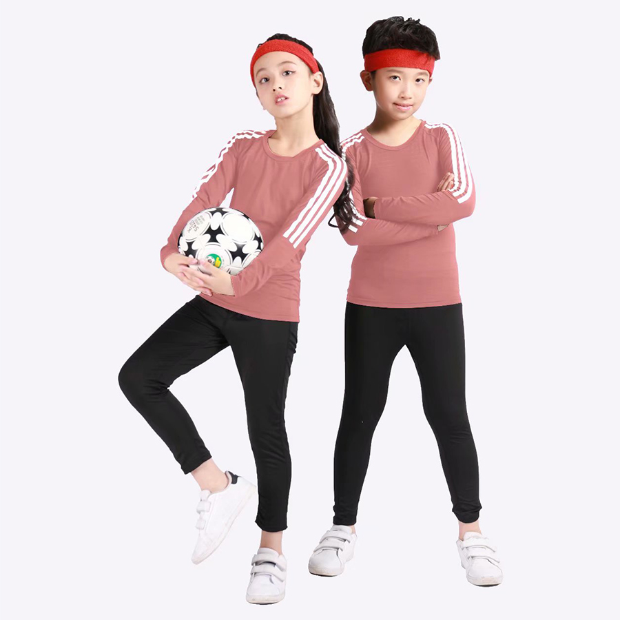 Children's Soft Thermal Underwear Children's Long John Boy Winter Solid Color Children's Clothes Pajamas + Football Clothes