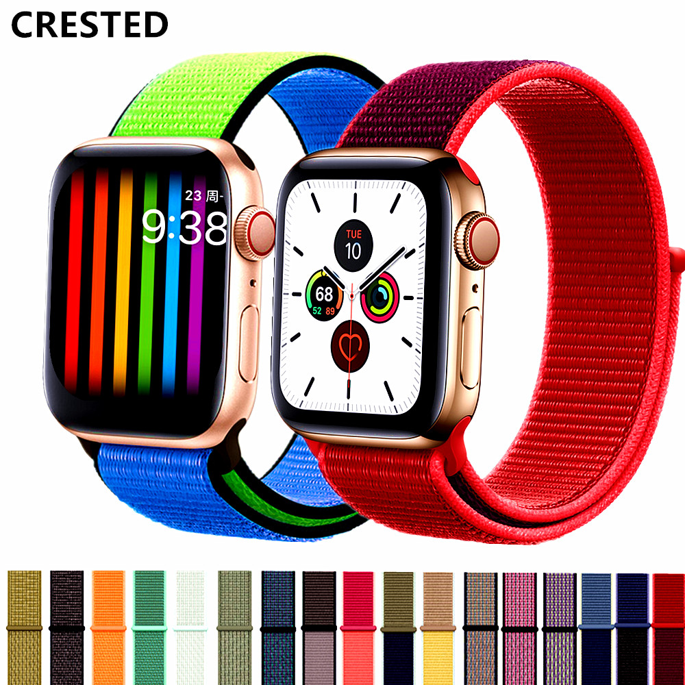 Strap For Apple Watch Band 42mm 44mm Correa Sport Loop Pulseira Apple Watch 5 3 4 Band Nylon Watchband Iwatch Band 40mm 38mm