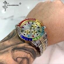 Unique Watch Men Luxury Brand Trending Mens Calendar Rose Go