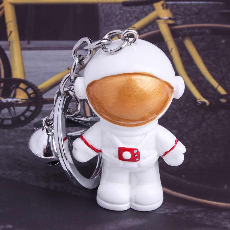 1 قطعة جديد الإبداعية عالية الجودة رائد الفضاء جرس صغير حقيبة سلسلة مفاتيح قلادة عمل أرقام لعبة نماذج جمع اللعب هدية