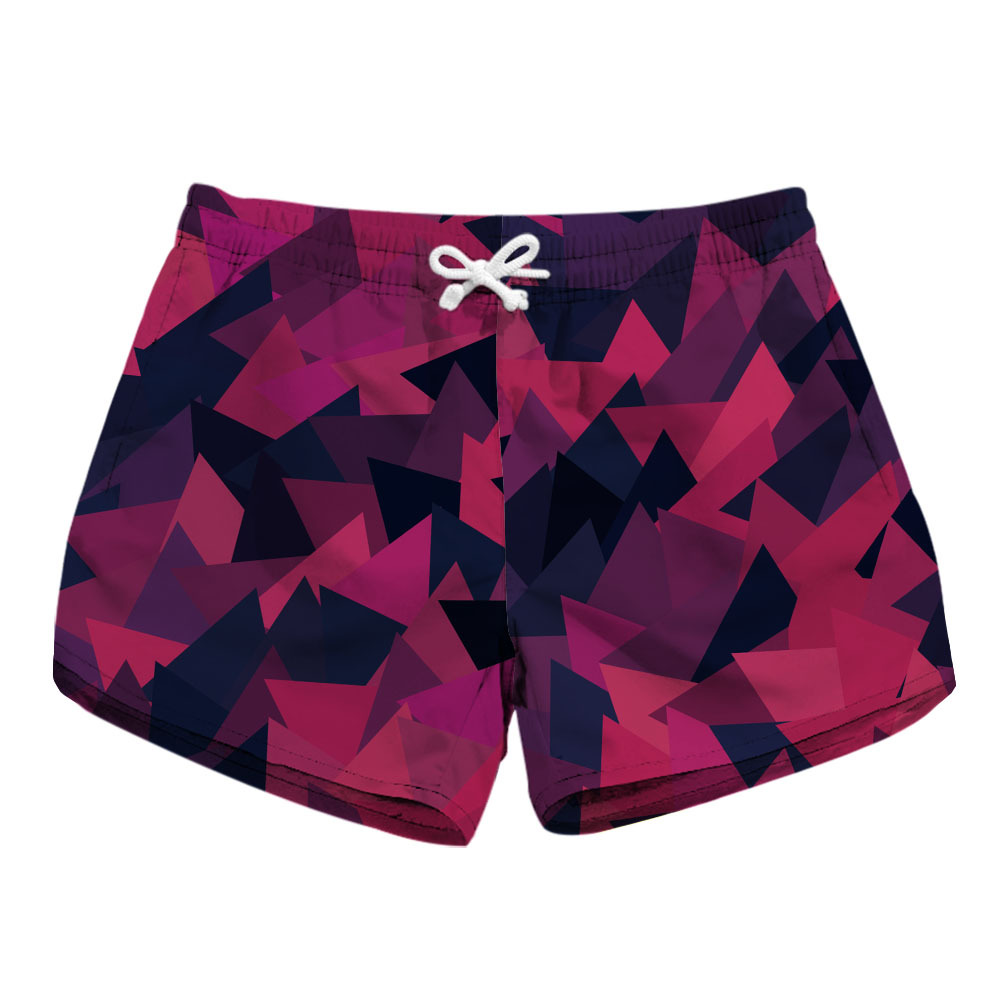 Digital Printing Ladies Quick-drying Shorts Fashion Printed Side Pocket Casual Shorts