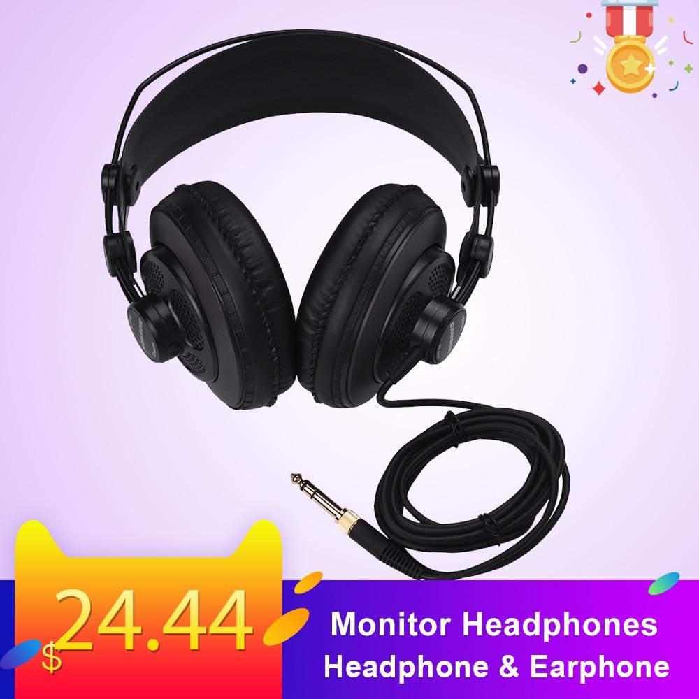 Professional Studio Monitor Headphones Hi-Fi Stereo Headphone & Earphone Professional Dynamic Audio Mixing DJ Studio Headset