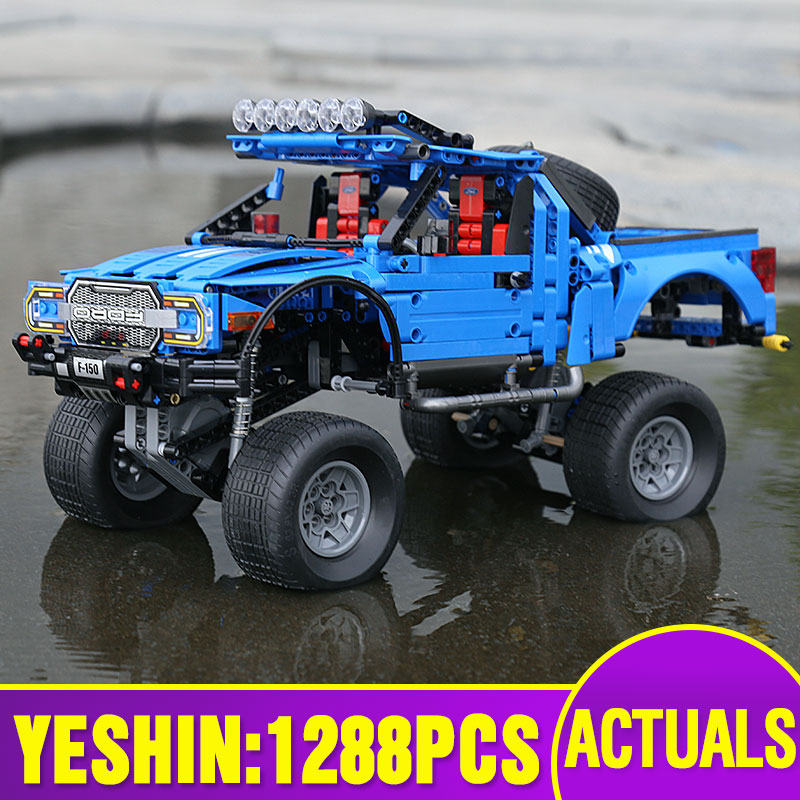 Yeshin 701970 Compatible with 20056 Technic series the F 150 Raptor Pickup Car Model building blocks