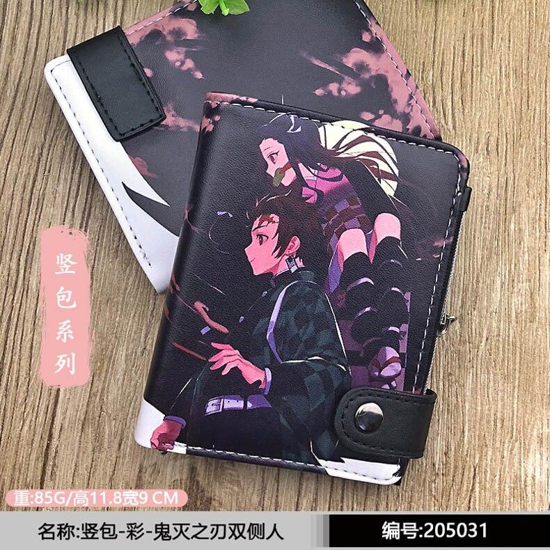 Anime Demon Slayer: Kimetsu No Yaiba Short PU Leather Wallet Kamado Tanjirou/Nezuko Card Holder Purse