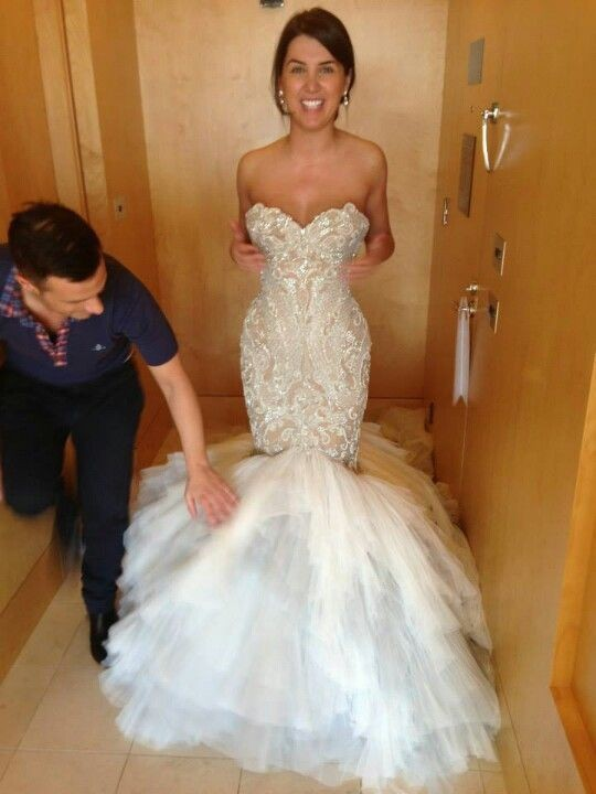 Mermaid Wedding Dress 2016 Organza And Tulle Sweetheart Sleeveless Lace-up Sweep Train Crystal 2016 Sexy Bridal Gown Dresses