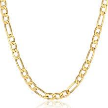Collier classique Figaro en or jaune pour hommes et femmes, 3.8mm, 17.59 pouces, nouvelle mode, bijoux cadeaux, GN472