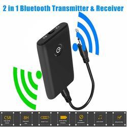 2 в 1 Bluetooth 5,0 приемник передатчика, ТВ ПК автомобильный динамик 3,5 мм AUX Hi-Fi музыкальный аудио адаптер/Наушники Автомобильное стерео устройств...