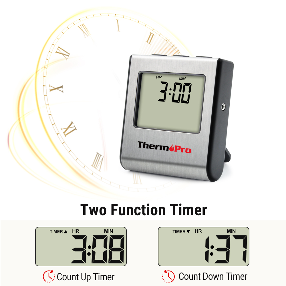 ThermoPro TP 16 Digital Food Thermometer for Oven with Digital LCD Display Programmed with Preset Temperatures for Meats at Various Cooking Levels 2