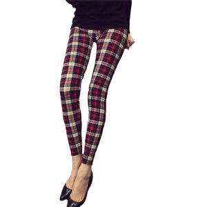 Image 5 - CUHAKCI Graffiti legginsy wzór w kwiaty drukuj legginsy dla kobiet legginsy Houndstooth sprzedaż elastyczna konstrukcja Vintage legginsy W056