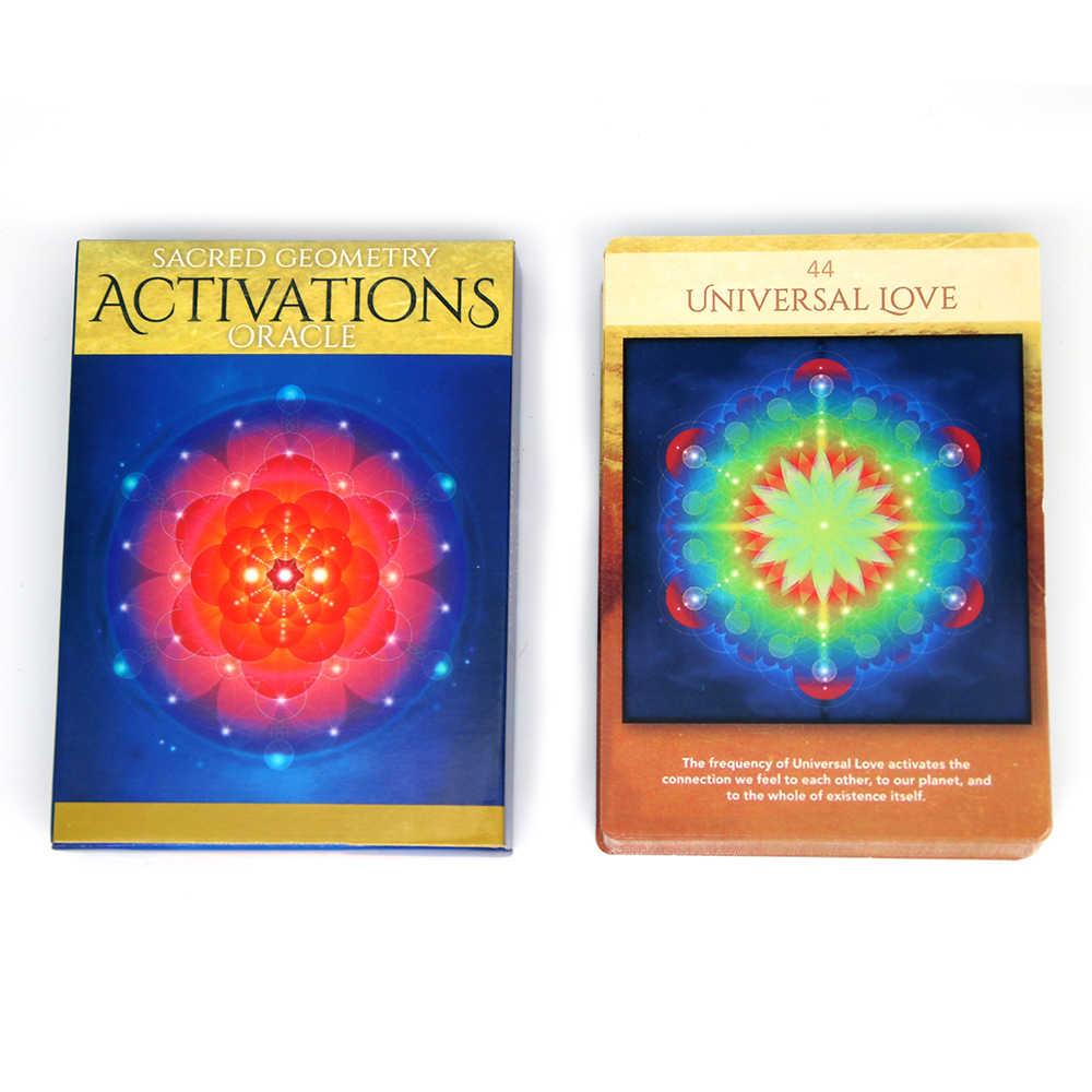 44 cartes sacrées Activations de géométrie Oracle découvrez le langage de votre âme jeu de pont pour débutants Journal jeu de tissu divin