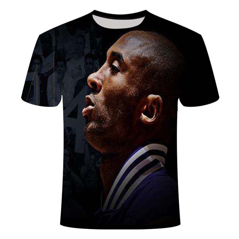 Kobe Bryant:What I'm doing right now,I'm chasing perfection Short Sleeve Tshirt Men Loose Casual Tee Hip-Hop sports 3D t-shirt image