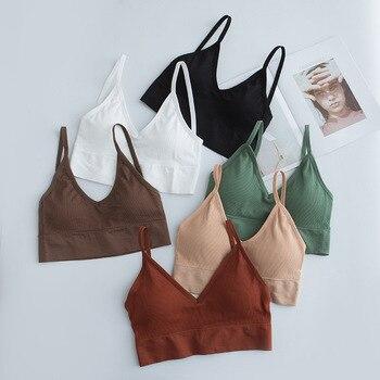 Women Tube Top Push Up Bra Cropped Top  Lingerie Fitness Bra Camis Cotton Bralette Brassiere Wireless Sport Top Underwear