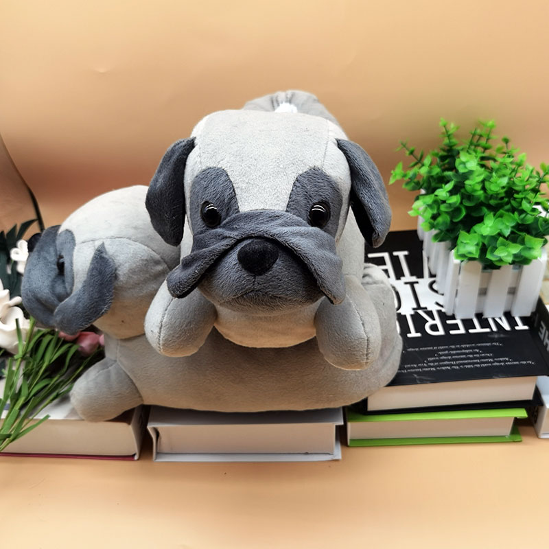 Personnalisé Bulldog Pantoufles