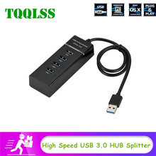 TQQLSS 4 ports USB 3.0 HUB Splitter High Speed HUB High-Speed Multi Expansion For Desktop PC Laptop Adapter USB 3.0 HUB