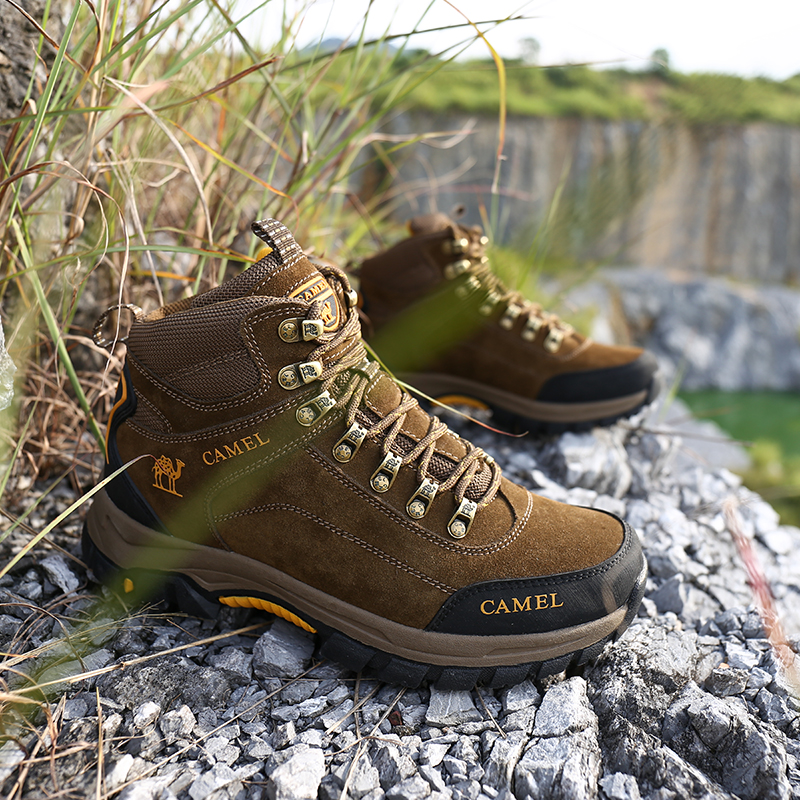 Image 4 - CAMEL Men Hiking Shoes Anti Slip Outdoor Tactical Shoes Walking  Trekking Climbing Sneakers Zapatillas Comfortable BootsHiking Shoes