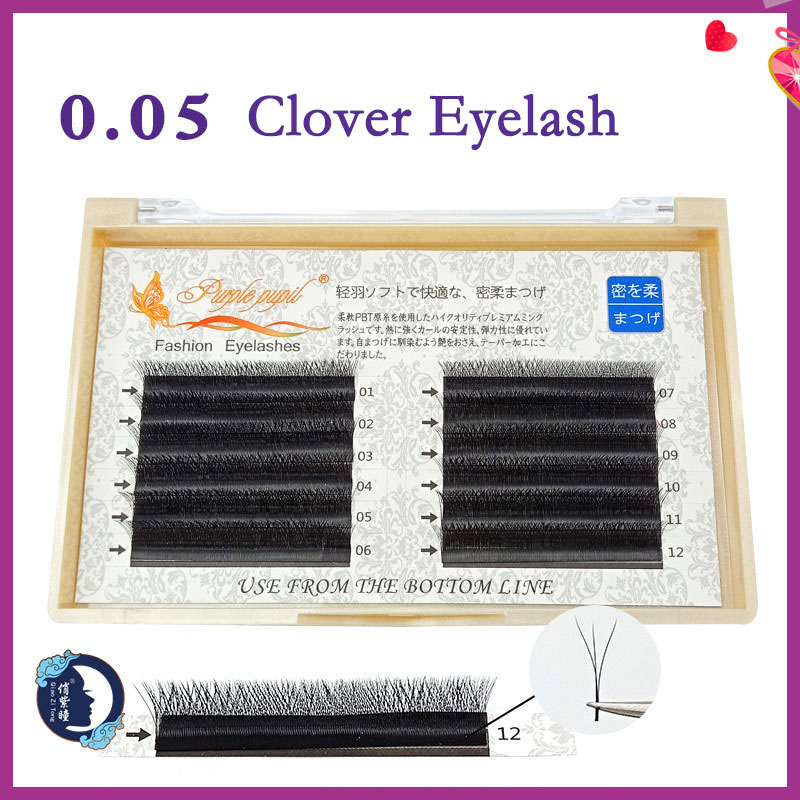 Clover Shape Volume eyelash extension New YY 3D  W Russian lashes  doing private label wimpern lash extension tools for makeup