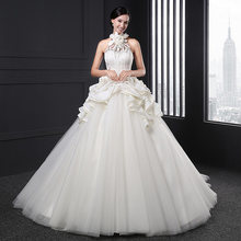 Vestido de novia largo de satén blanco para Z-003, traje de tul bohemio sencillo, corsé elegante vintage, precio real, 2020