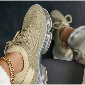 Women Vulcanized Shoes Mesh Lace Up Female Sneakers Comfort Walking Shoes Woman Casual Breathsble Ladies Plus Size Autumn New women sneakers breathable outdoor walking shoes woman mesh casual shoes white lace up ladies shoes 2019 fashion female sneakers