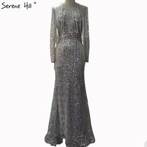 Image 2 - เขย่า Mermaid แฟชั่น Elegant ใหม่ชุดราตรี 2019 แขนยาว Beading ชุดราตรี Gowns Serene Hill LA6544