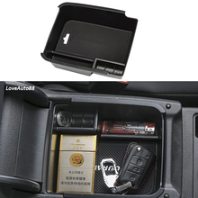 Central Armrest Storage Box Container Interior Stowing Tidying Accessories Car Styling For VW Volkswagen Touran 2016 2017 2018