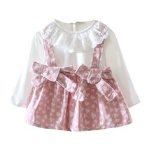 Spring Autumn Girls Dress Cute Cotton Long Sleeve Kids Dresses For Girl Fashion Baby Princess Dress Chidlren Clothes uoipae girl kids dress spring 2018 fashion pattern printing princess dress kids long sleeve simple girls clothes b0931