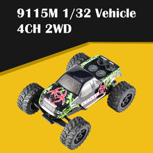 Hot 9115M 1:32 4CH 2WD 2.4GHz Mini Off-Road RC Racing Car Truck Vehicle High Speed 20km/h Remote Toy for Kids
