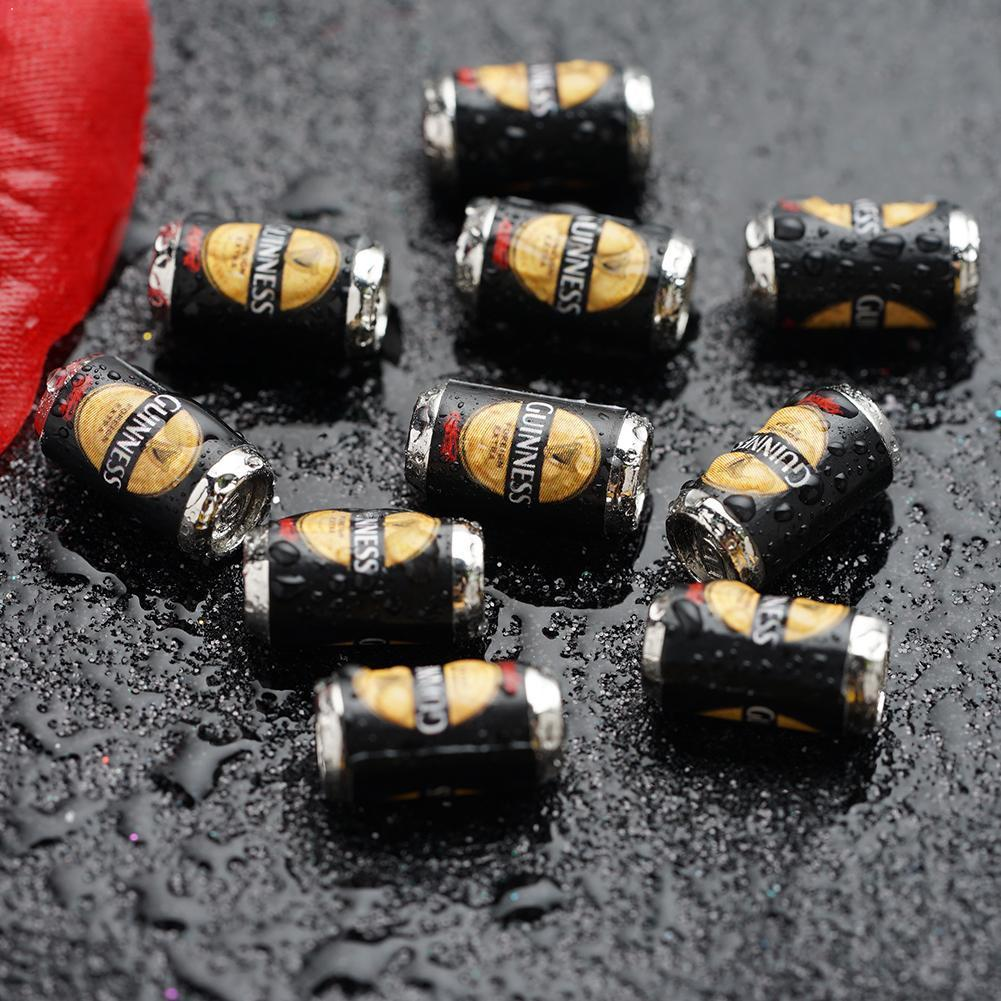 10pcs/set Dollhouse Decoration Simulation Black Green Dollhouse Scene Beer Model Beer Can Miniature Accessories 1:12 Scale V8F5