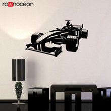Car Racing Formula Race Garage Wall Stickers Vinyl Man Cave Decor Cool Auto Body Shop Kids Room Decals Removable Murals Art 3660