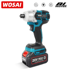 WOSAI 20V Cordless Electric Screwdriver Torque 155NM 4Speed Brushless Impact Wrench Rechargable