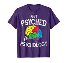 brand men shirt Get Psyched For Psychology Funny Joke Science Pun T Shirt(China)