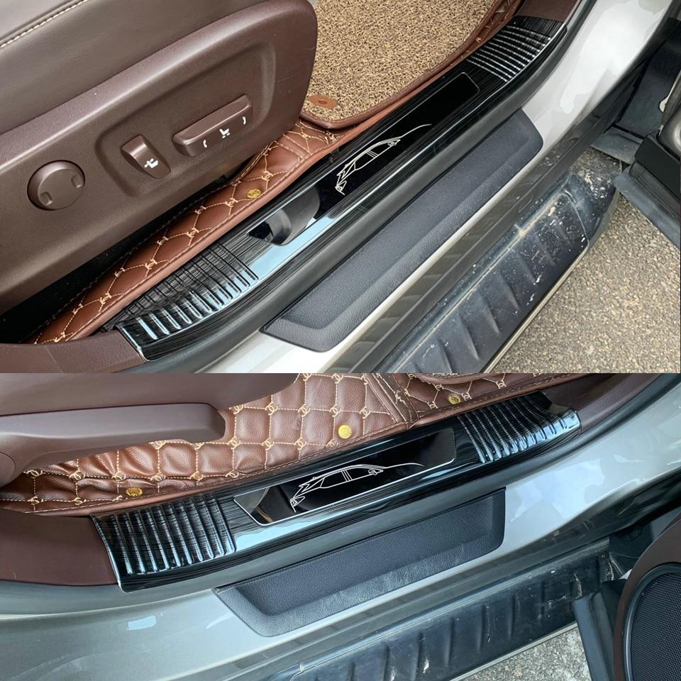 Chrome Side Skirt Door Line Sill Cover Molding Garnish Trim 4Pcs for PEUGEOT