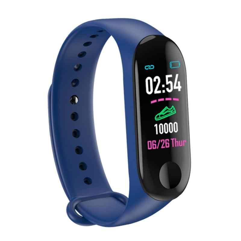 Akıllı saat M3 artı Bluetooth bilezik spor izci kan basıncı kalp hızı monitörü kalp hızı su geçirmez izle bileklik