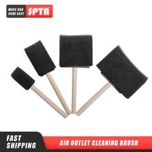 SPTA ventilación de aire acondicionado de coche, cepillo de rejilla, Detailing Cleaner, persianas, plumero limpiar, Auto Detailing, cepillo de esponja con mango de madera