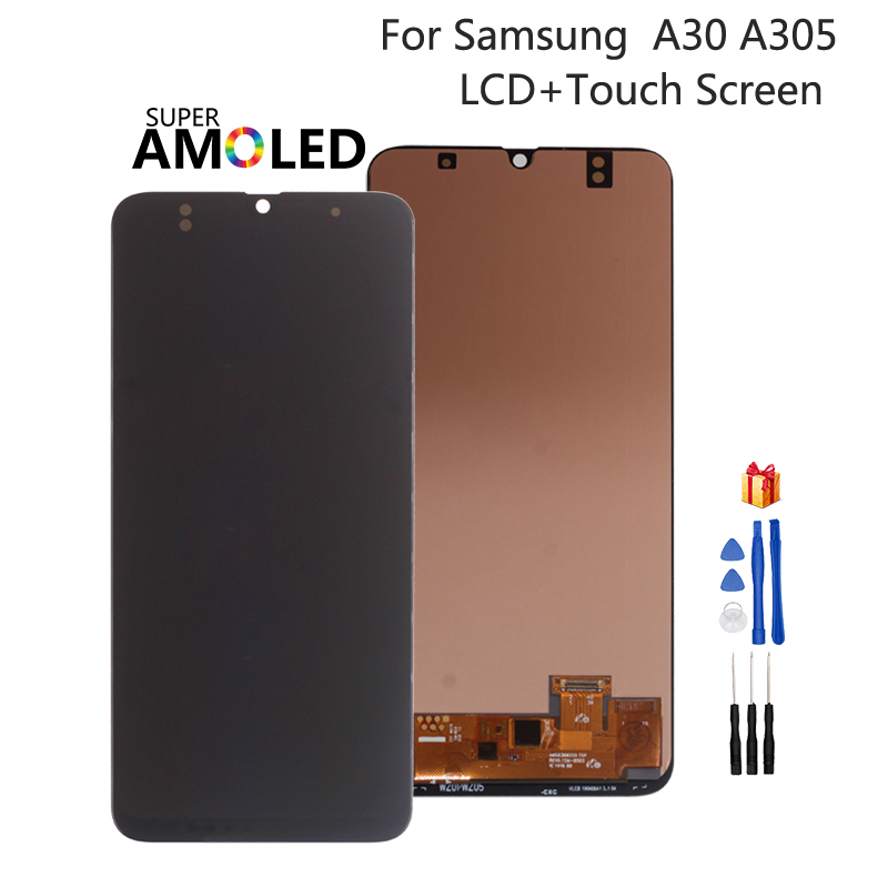 Incell Amoled For <font><b>Samsung</b></font> <font><b>Galaxy</b></font> <font><b>A30</b></font> A305 A305F <font><b>LCD</b></font> Display A305FN/DS Touch Screen DigitizerAssembly For <font><b>SAMSUNG</b></font> <font><b>A30</b></font> Screen <font><b>LCD</b></font> image