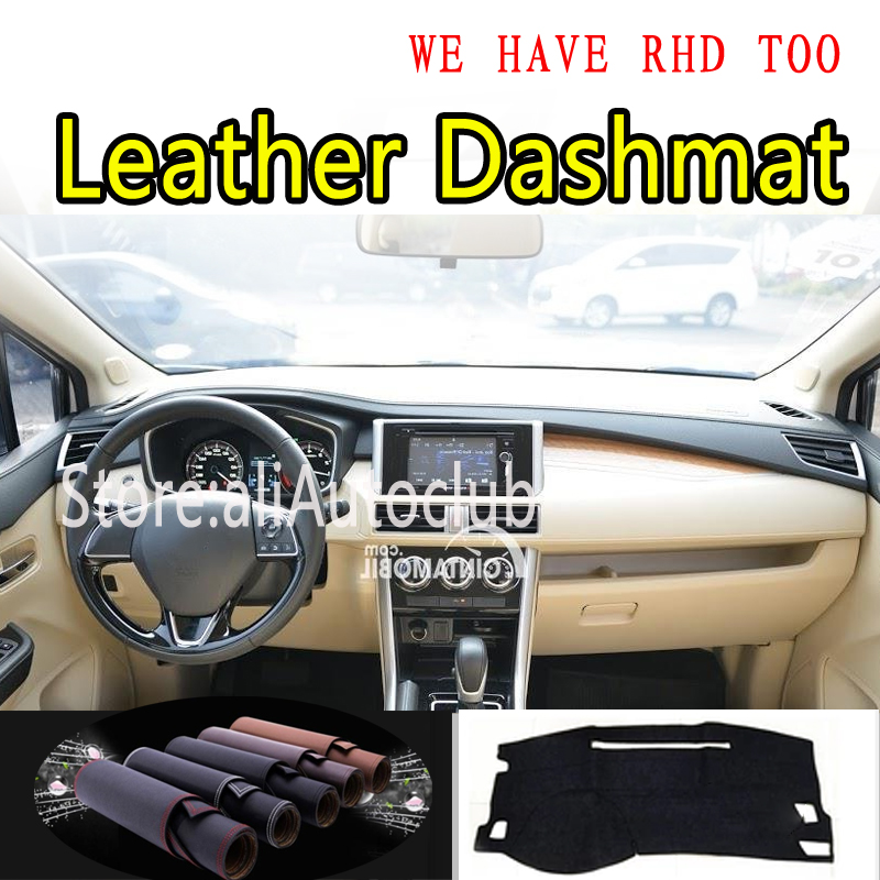 For Mitsubishi Xpander 2017 2018 2019 2020 Leather Dashmat Dashboard Cover Pad Dash Mat Sunshade Carpet Car Styling  Accessories