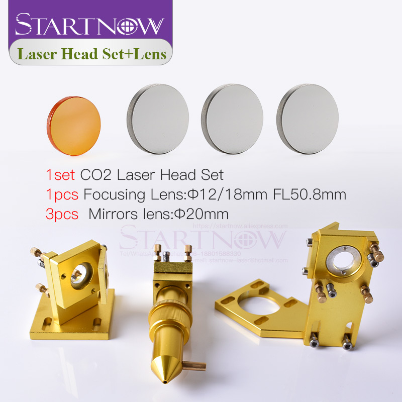 Startnow CO2 Laser Kit Base Components Laser Head Set Lens Mirror Fixture Mount Holder For CNC 2030 Engraver Machine Spare Part