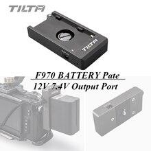 Tilta F970 סוללה צלחת 12V 7.4V יציאת פלט עם 1/4 20 הרכבה חורים עבור Tiltaing כלוב BMPCC 4K 6K מצלמה Rig
