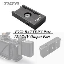 Tilta F970 Battery Plate 12V 7.4V Output Port with 1/4 20 Mounting Holes for Tiltaing Cage BMPCC 4K 6K Camera Rig