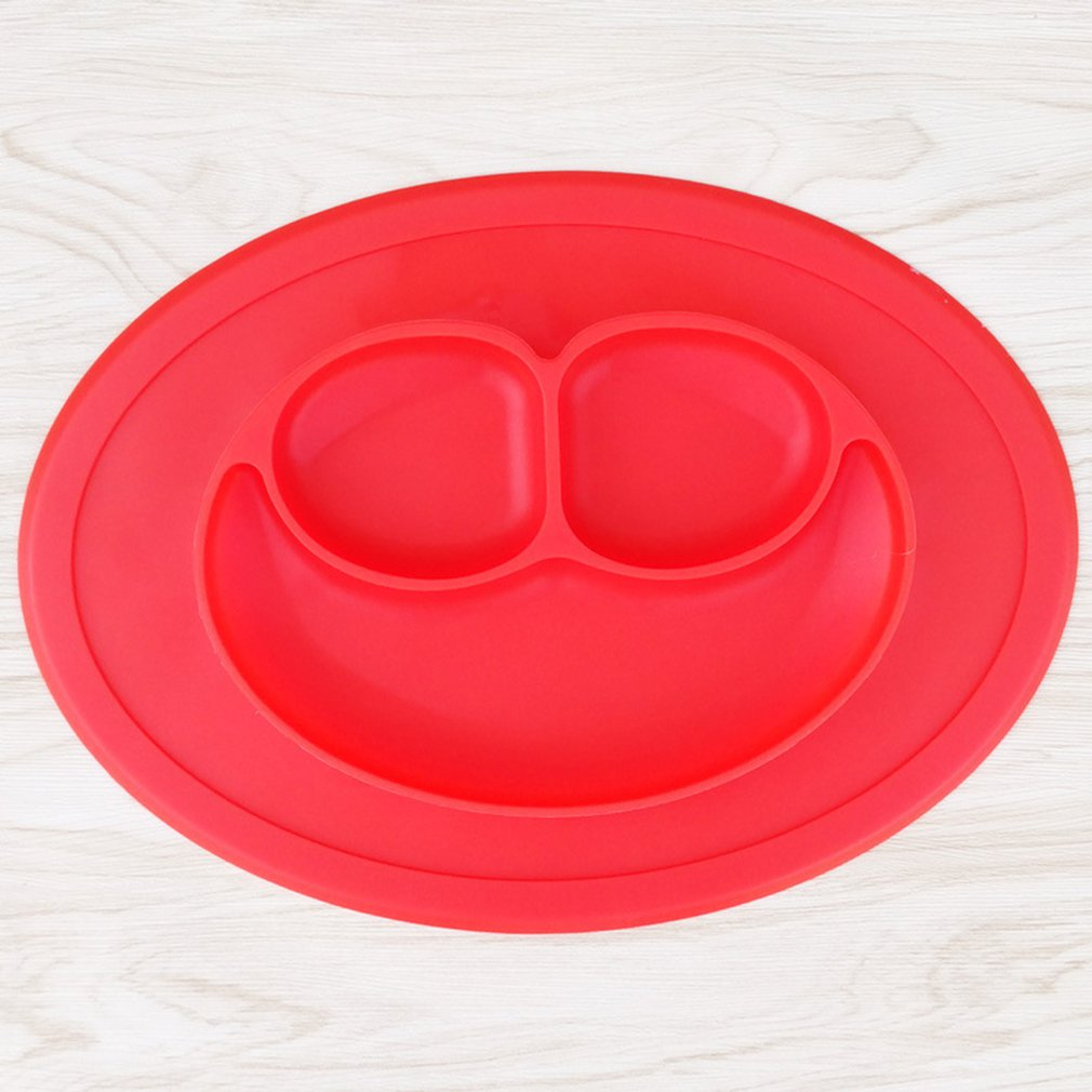 Silicone Toddler Plate Placemat Face Non Slip Infant Food Supplement Plate Children's Silicone Plate Feeding Dining Tray