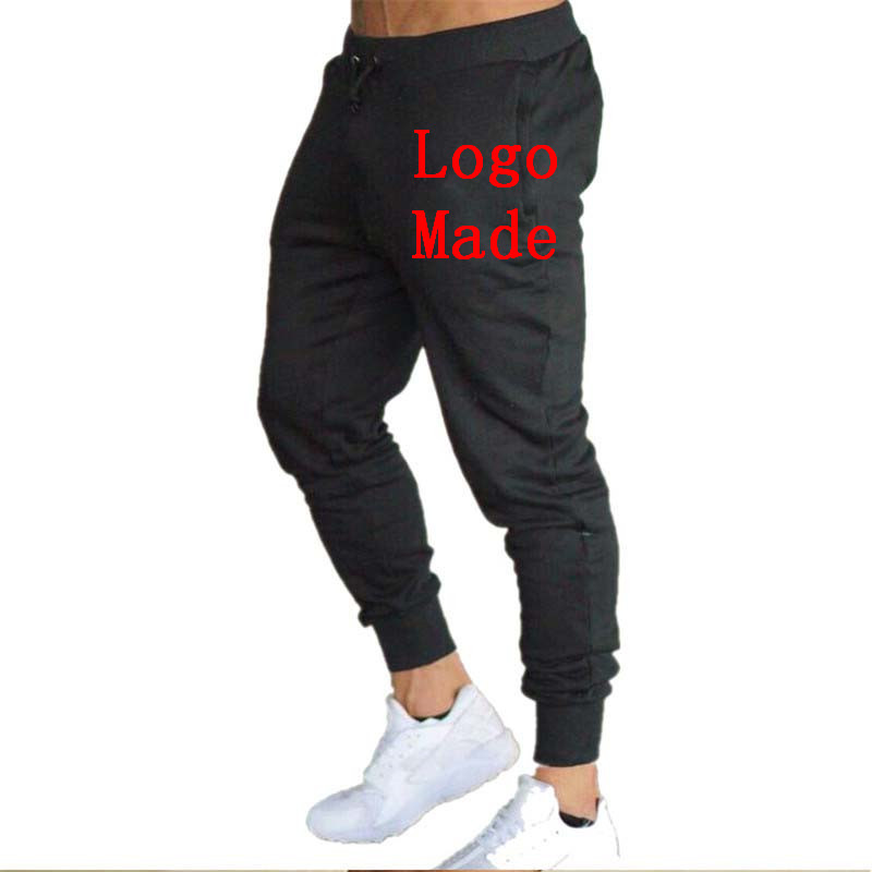 Customized Logo Autumn Men's Gym Training Jogging Pants Men Joggers Slim Sweatpants Cotton Workout Running Sport Trousers