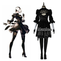 NieR:Automata 2B Costume Cosplay YoRHa No. 2 Type B Fancy Dress Heroine Halloween Disguise Costumes For Women Custom Adult