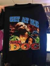 Vintage dmx obter em mim cão topo impressão t camisa masculino cloathing