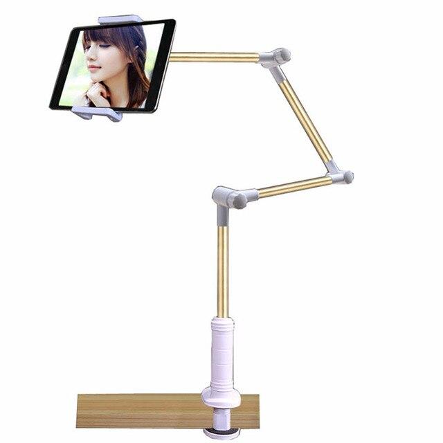 Aipedly suporte de tablet dobrável, suporte para tablet, braço longo e ajustável, para pessoas preguiçosas, suporte para mesa de 4 14 Polegada tablet pc