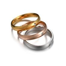 4 мм шарм нержавеющая сталь персонализированный кольцо для женский милый циркон гравировка имя обещание обручальные кольца падение доставка