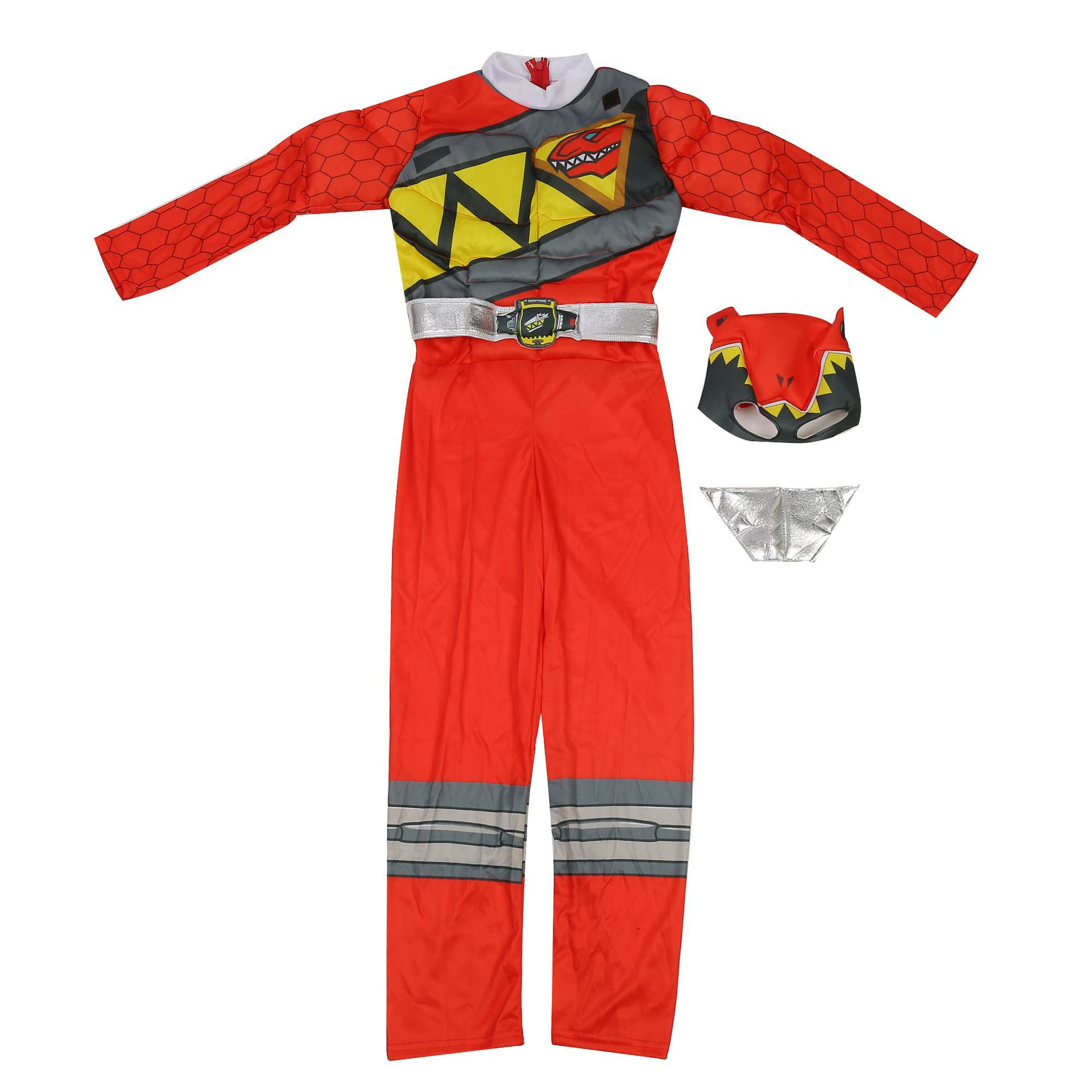 Red Power Dino Charge Boys Muscle Costume 2